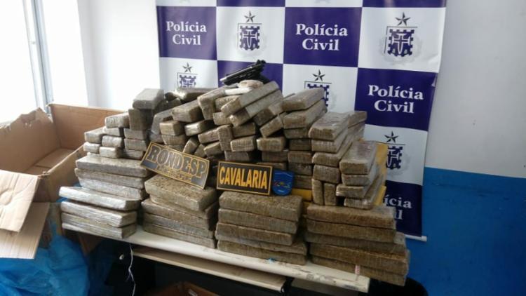 Maior quantidade da droga foi apreendida em um carro no bairro Capuchinhos