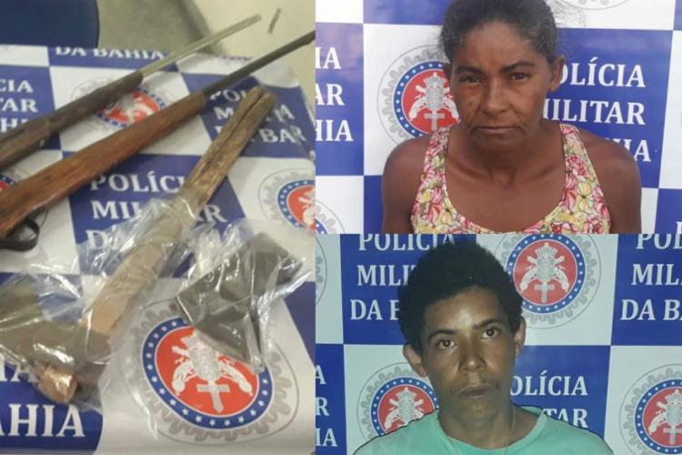 Machado usado no assassinato foi encontrado com a dupla - Foto: Divulgação   SSP