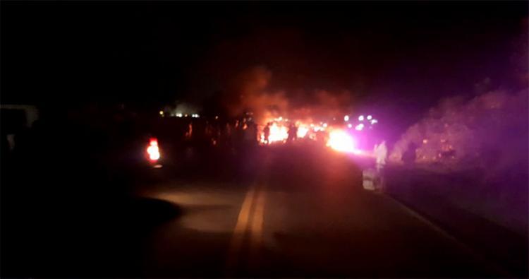 O protesto teve inicio às 4h45 - Foto: Concessionária Bahia Norte | Divulgação