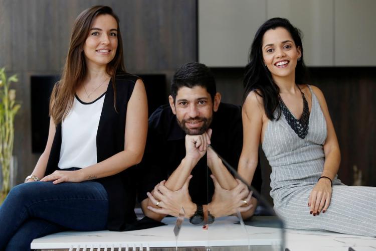 Odile Tosta, Daniel Gualberto e Caroline Lima, do escritório Studio Doc
