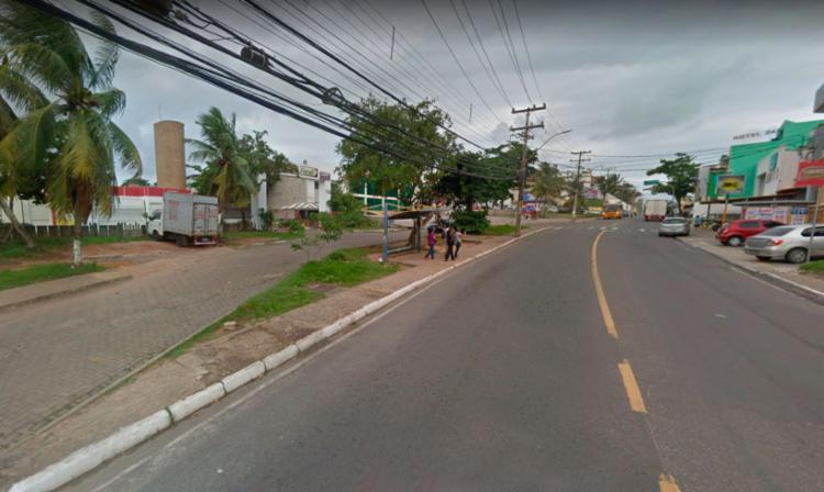 Crime foi cometido em frente a faculdade na avenida Jorge Amado - Foto: Reprodução | Google Street View