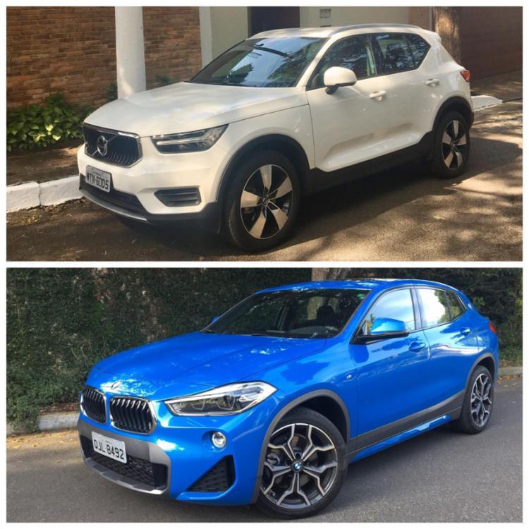 No confronto dos SUVs compactos premium, BMW X2 e Volvo XC40 disputam a melhor classificação em busca de um cliente bastante exigente - Foto: Marco Antônio Jr.| Ag. A TARDE