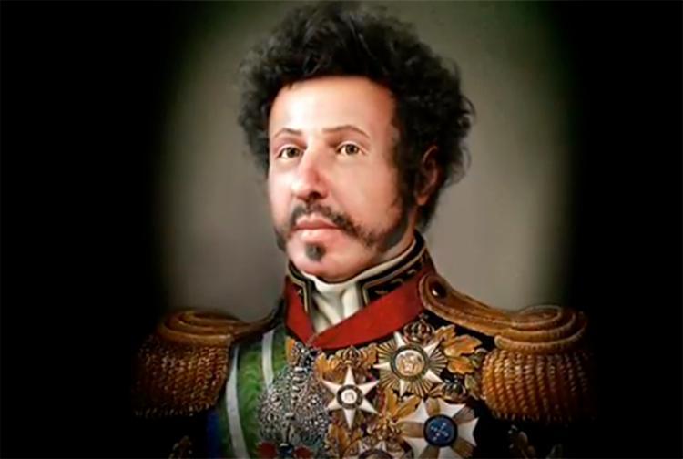 A reconstrução facial de d. Pedro I foi possível graças ao estudo da arqueóloga Valdirene do Carmo Ambiel - Foto: Reprodução | Youtube