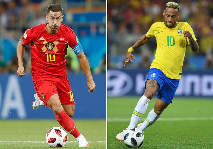 Neymar e Hazard se confrontam em Kazan, às 15h - Foto: Odd Andersen e Patrik Stollarz l AFP