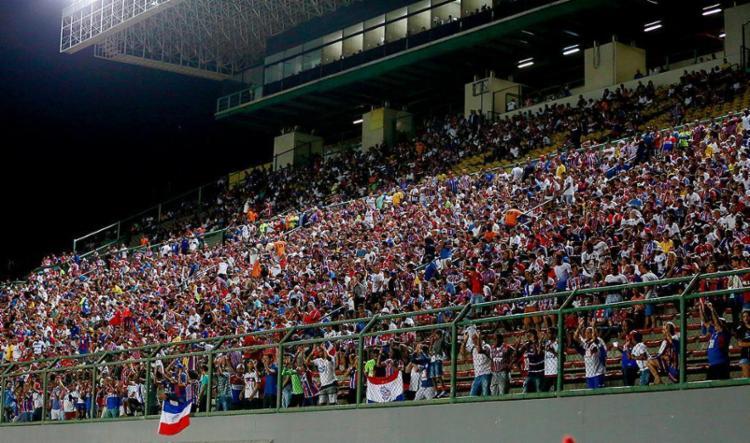 Após triunfo no Ba-Vi e promoção de ingressos para a partida desta quarta-feira, 25, expectativa é de um bom público em Pituaçu - Foto: Felipe Oliveira l EC Bahia