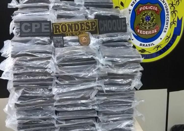 A droga foi encontrada em um galpão, próximo da Ceasa de Simões Filho - Foto: Divulgação | SSP