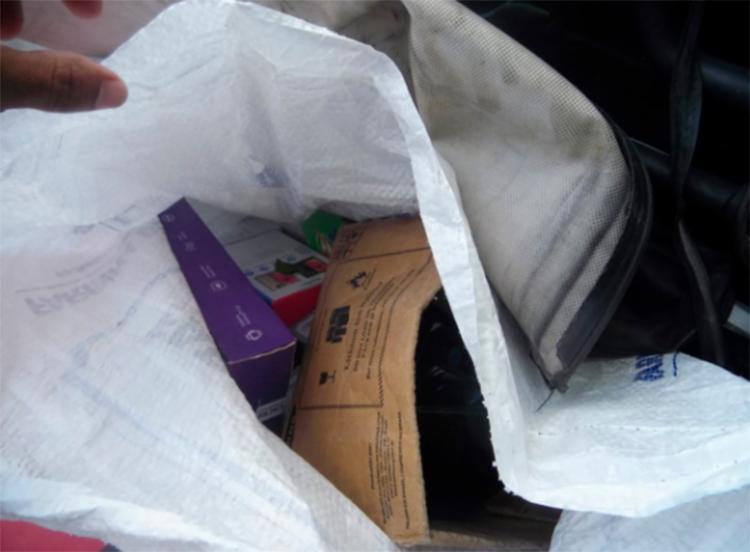 Carga de equipamentos eletrônicos foi recuperada em São Sebastião do Passé. Um dos suspeitos morreu em confronto com a polícia - Foto: Divulgação | SSP