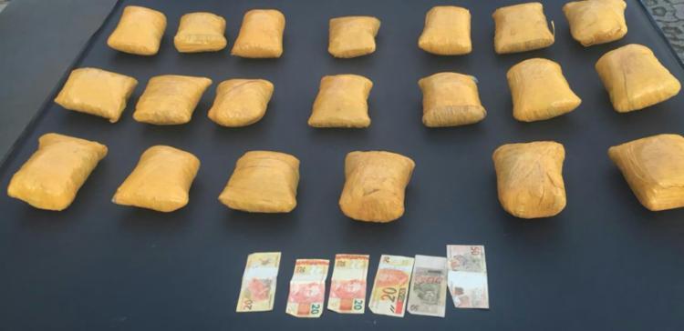 Suspeitos revelaram à polícia que a droga seria entregue no Garcia, em Salvador - Foto: Divulgação | SSP-BA