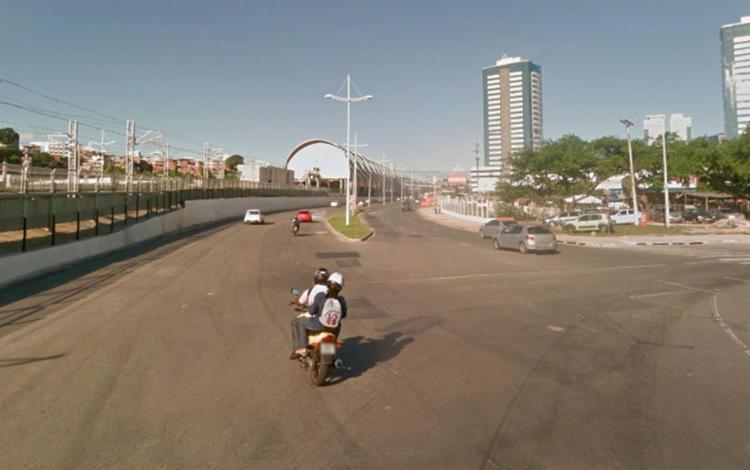 Durante período interditado os motoristas devem seguir pela via marginal em frente ao Makro - Foto: Reprodução | Google Maps