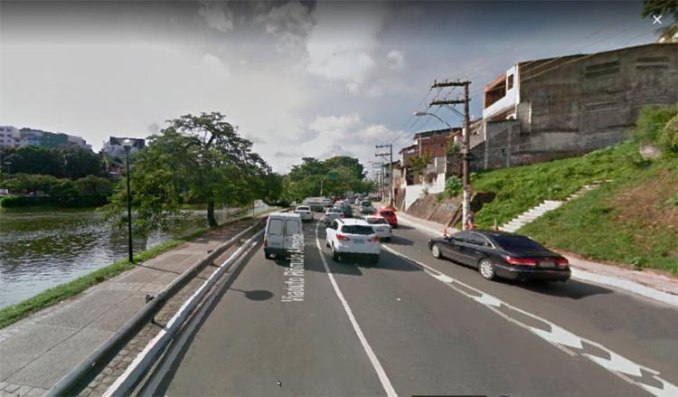 Acidente ocorreu nas imediações do Dique do Tororó - Foto: Reprodução | Google Maps