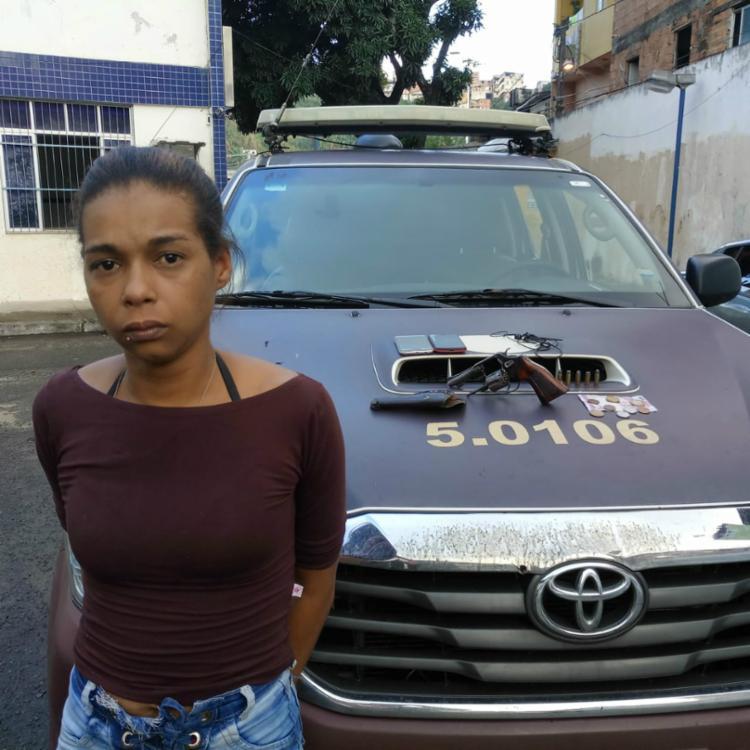 Claudineia foi presa por guarnições da Operação Gêmeos - Foto: Divulgação | SSP