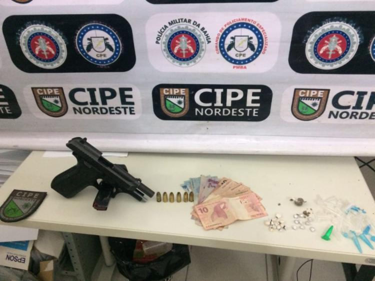 Materiais foram encontrados com a dupla em Conceição do Coité - Foto: Divulgação   SSP-BA