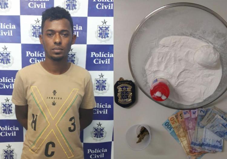 Segundo informações dos policiais, a droga ainda seria embalada para comercialização - Foto: Divulgação   SSP-BA