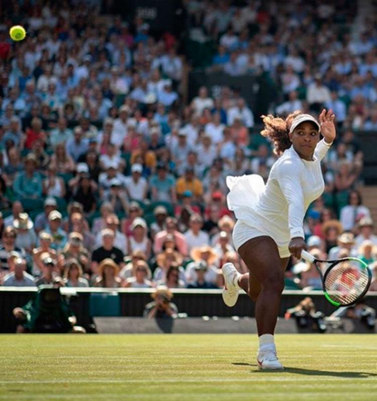 Sete vezes campeã de Wimbledon, Serena defendia uma invencibilidade de 20 jogos - Foto: Reprodução| Instagram