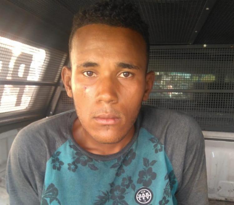 Gustavo tentou fugir durante abordagem, mas foi detido pela polícia - Foto: Divulgação | SSP-BA