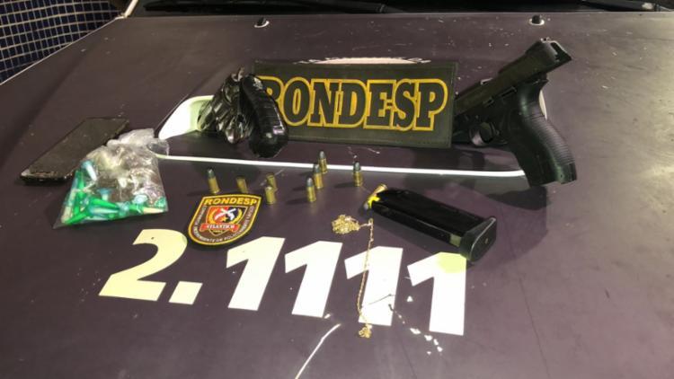 Armas, munições e drogas foram apreendidas com os integrantes da quadrilha - Foto: Divulgação | SSP-BA