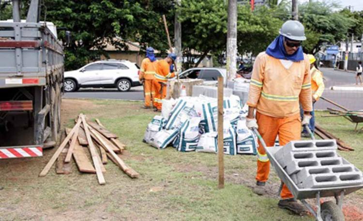 intervenções na via marginal na região já tiveram início - Foto: Divulgação   Prefeitura de Salvador