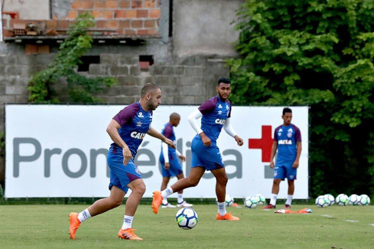 Jogadores durante atividade no Fazendão - Foto: Felipe Oliveira l EC Bahia