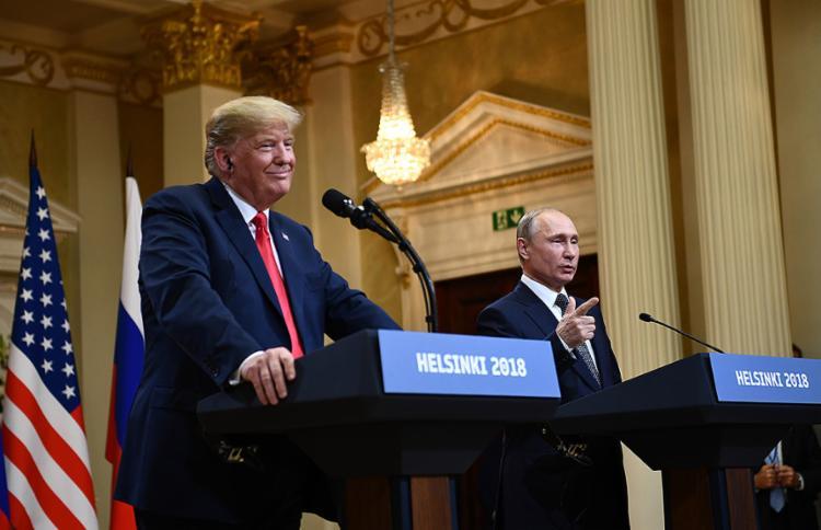 Com Putin, na segunda-feira, 16, presidente disse não ver motivo para duvidar de líder russo - Foto: Brendan Smialowski l AFP