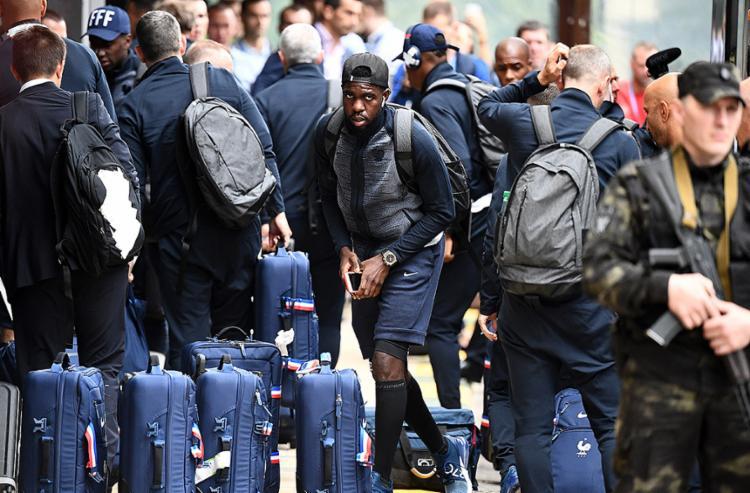 O zagueiro Umtiti foi o autor do gol que garantiu a classificação dos Bleus - Foto: Franck Fife l AFP