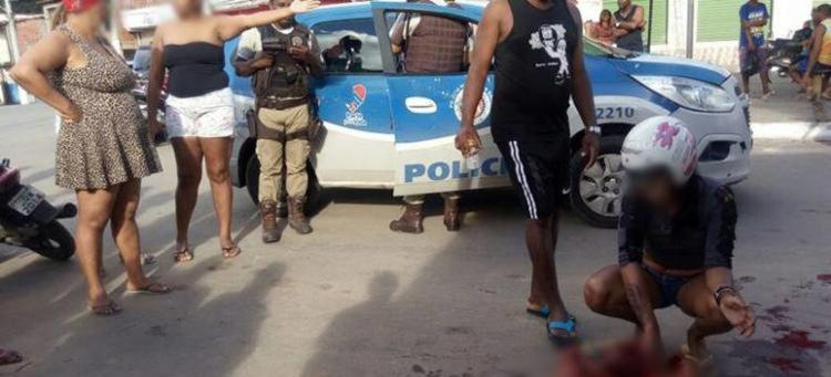 A vitima foi socorrida por uma Bombeira Civil - Foto: Reprodução | Site Acorda Cidade