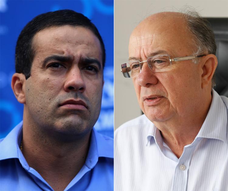 Zé Ronaldo ainda articula o candidato a vice na chapa - Foto: Joá Souza l Ag. A TARDE l 5.2.2018 e Luciano Carcará l Ag. A TARDE l 24.4.2018