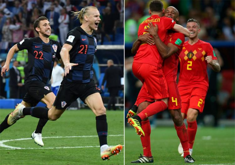 Croácia e Bélgica podem ser os 'azarões' da grande final da Copa do Mundo - Foto: AFP