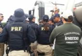 PRF flagra mais de 60 toneladas de alimentos sendo transportados com produtos perigosos | Foto: Reprodução | PRF