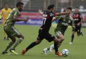 Na volta de Carpegiani, Vitória cai para o Palmeiras e se afunda no Z-4 | Foto: Adilton Venegeroles l Ag. A TARDE