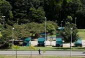 Em primeiro dia da reabertura, parques registram movimento tranquilo | Foto: Raul Spinassé | Ag. A TARDE
