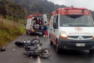 Quatro pessoas ficam feridas em colisão entre motos na BR-330 | Reprodução | Site Giro em Ipiaú