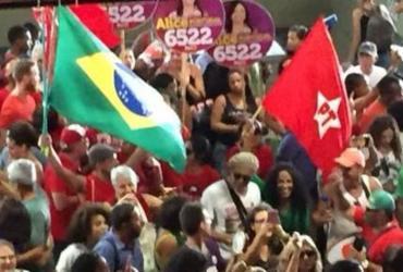 Militantes realizam manifestação pró-Lula na Estação Lapa   Reprodução   Cidadão Repórter via WhatsApp