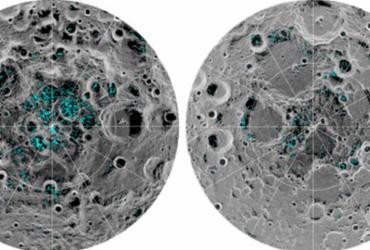 Nasa informa que a lua tem dois depósitos de gelo | Nasa