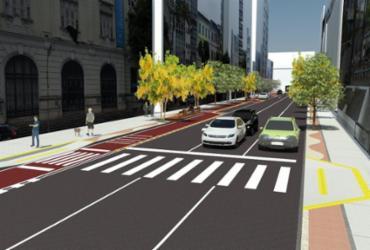 Projeção mostra como ficará a rua após as obras de requalificação - Divulgação | Secom
