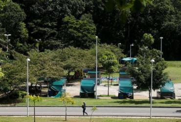 Em primeiro dia da reabertura, parques registram movimento tranquilo | Raul Spinassé | Ag. A TARDE
