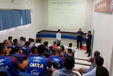 Com palestra sobre VAR, Bahia encerra preparação para decisão | Felipe Oliveira l EC Bahia