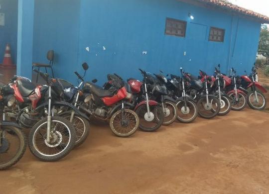 Homens são presos com 14 motos roubadas no interior da Bahia | Divulgação | SSP