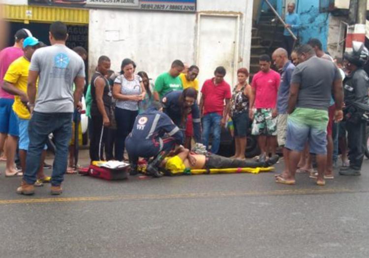 O acidente aconteceu nas proximidades da faculdade Unopar, situada na avenida Itabuna, uma das mais movimentadas da cidade - Foto: Reprodução   blog Fábio Roberto Notícias