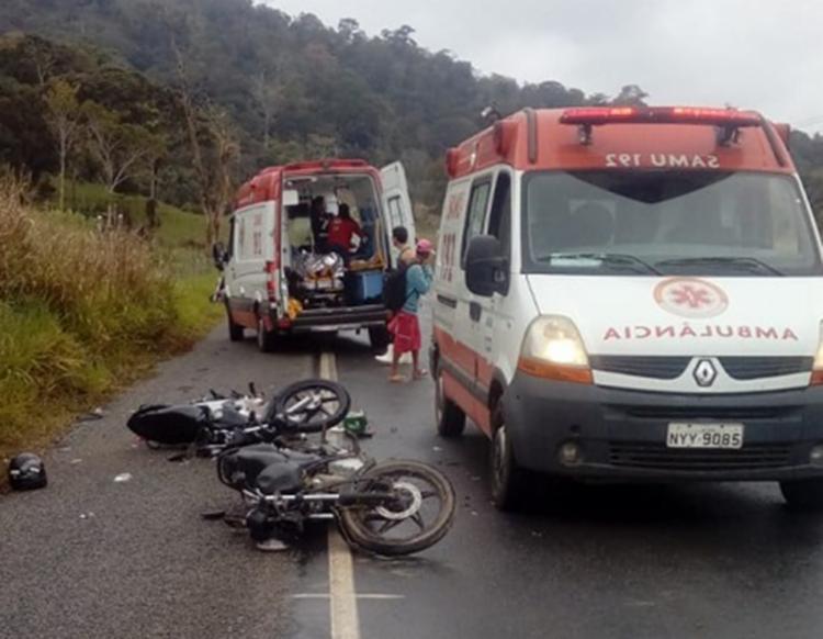 As quatro vítimas foram socorridas por unidades do Serviço de Atendimento Móvel de Urgência - Foto: Reprodução | Site Giro em Ipiaú