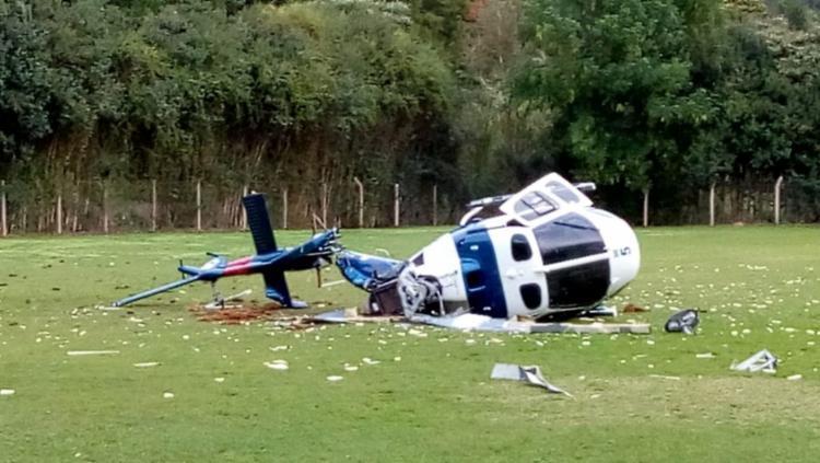 A aeronave caiu no momento do pouso - Foto: Vagner Uliana e Wilker Uliana l Polícia Militar