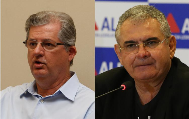 O mais rico entre os candidatos é o presidente da Alba, Ângelo Coronel (PSD) - à direita -, seguido pelo deputado federal Jutahy Magalhães (PSDB) - Foto: Luciano Carcará l Ag. A TARDE