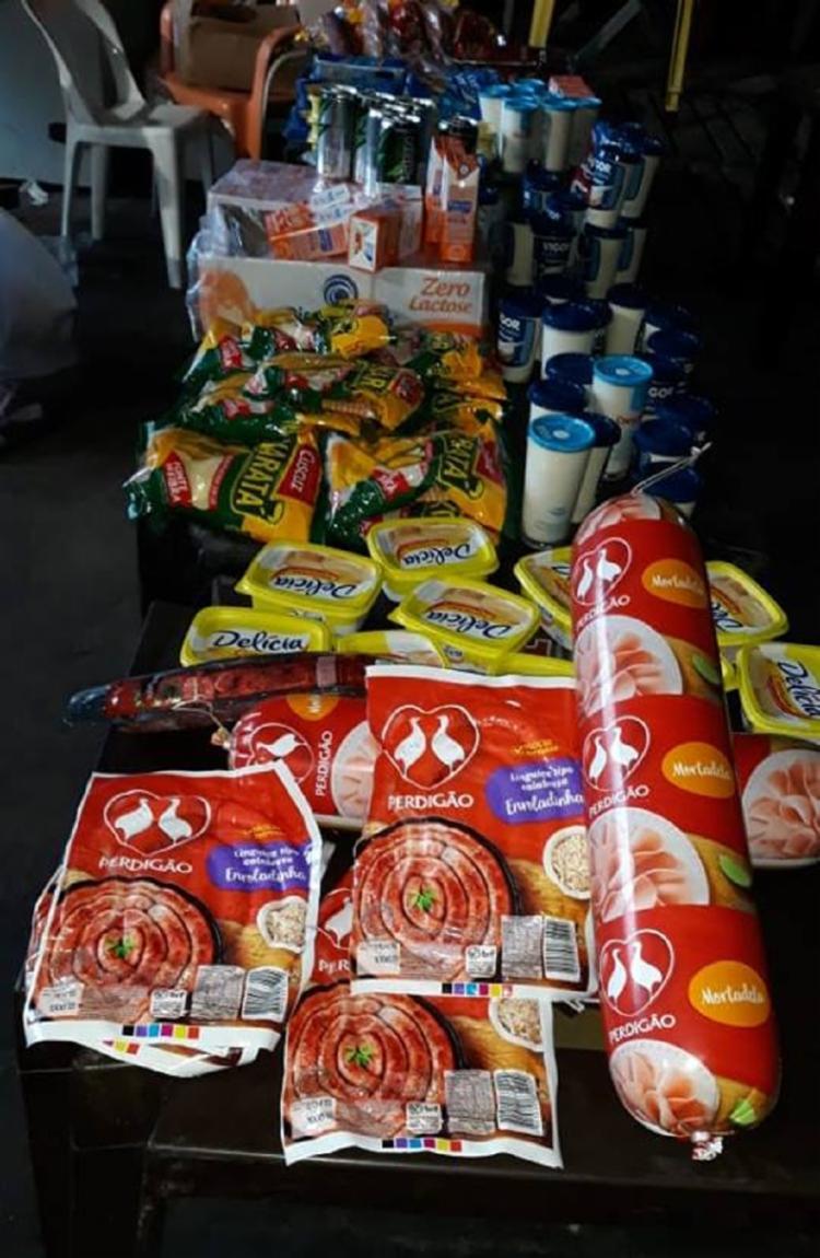 Foi contabilizado o total de 1.106kg de alimentos apreendidos - Foto: Reprodução   SEMOP