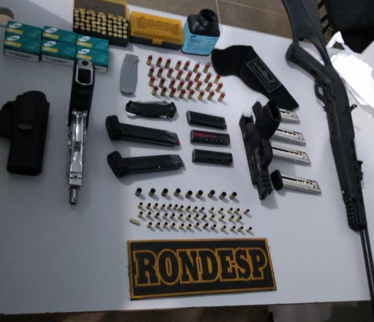 Armas foram apresentadas na 11ª Coordenadoria Regional do Interior