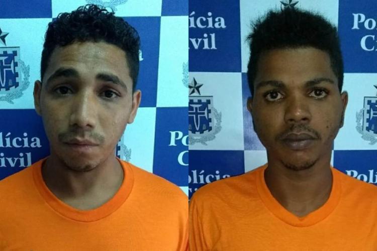 Josenilton (à esquerda) e Isaías teriam cometido o crime na madrugada de sábado - Foto: Divulgação | Polícia Civil