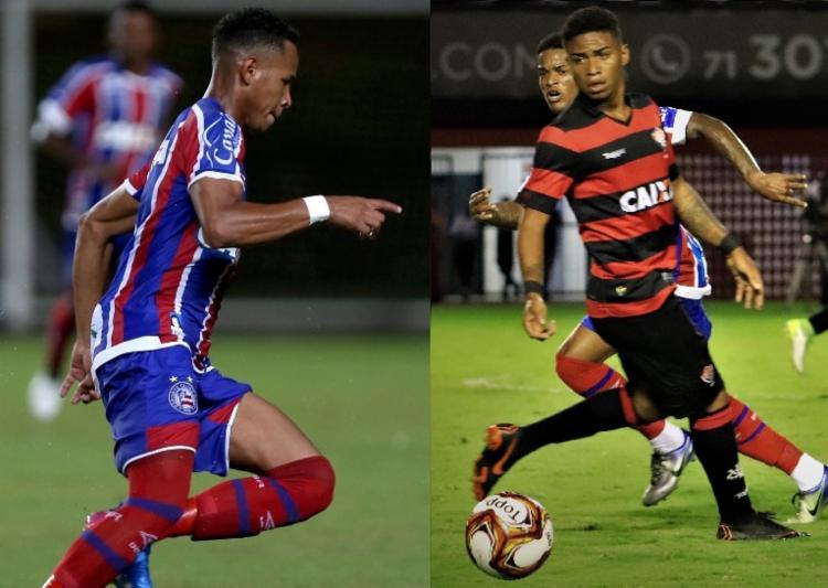 Edimundo (Bahia) e Ruan (Vitória) contam como começaram no futebol e dos anseios da base - Foto: Felipe Oliveira   EC Bahia - Maurícia da Matta   EC Vitória
