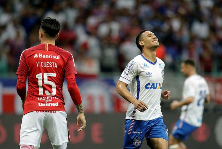 Tricolor levou gol na primeira etapa e não conseguiu reagir - Foto: Raul Spinassé l Ag. A TARDE
