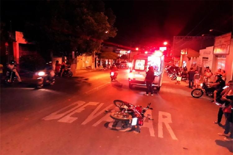 , o homem acabou atingindo a motocicleta de um estudante e seguiu em disparada sem prestar socorro à vítima - Foto: Reprodução | 97News