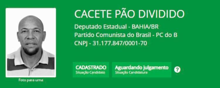 Cacete Pão Dividido é candidato a estadual do PCdoB - Foto: Divulgação