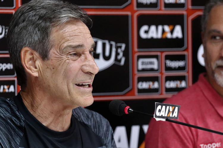 Novo comandante Rubro-Negro fará sua estreia à frente da equipe no domingo, 19, contra o Palmeiras - Foto: Maurícia da Matta l EC Vitória