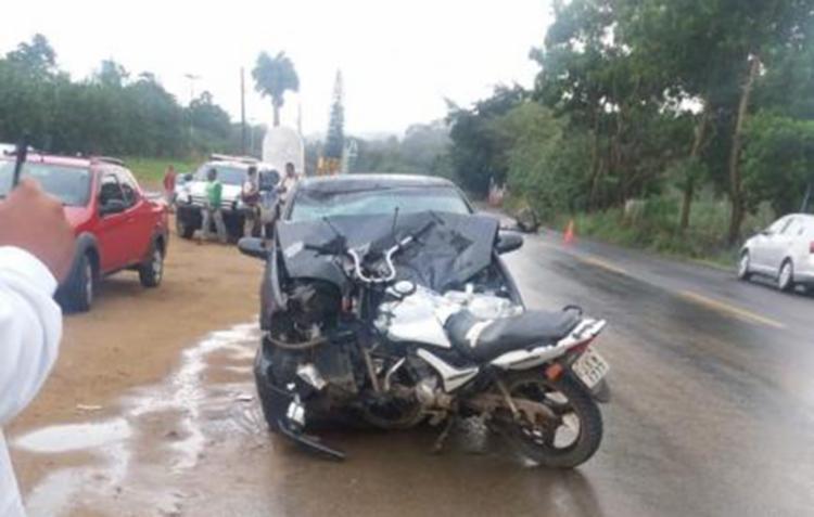 O acidente ocorreu na manhã desta segunda - Foto: Reprodução   site Sul Bahia 1